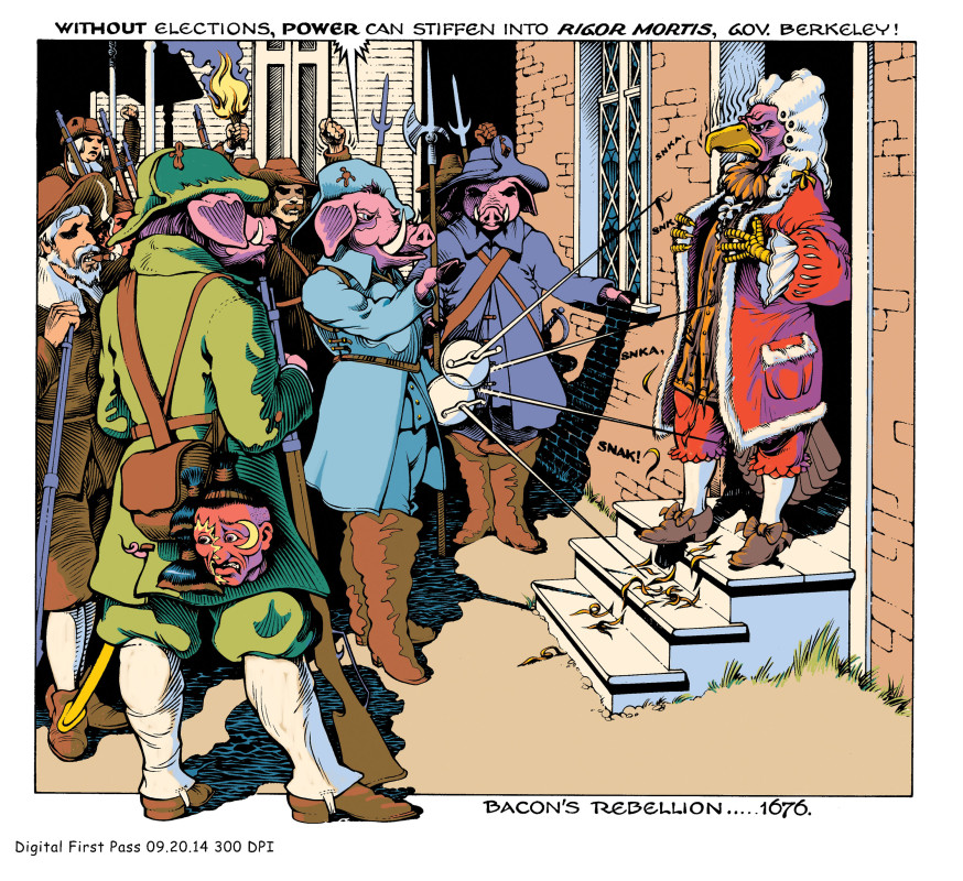 Beacon's Rebellion, 1676.